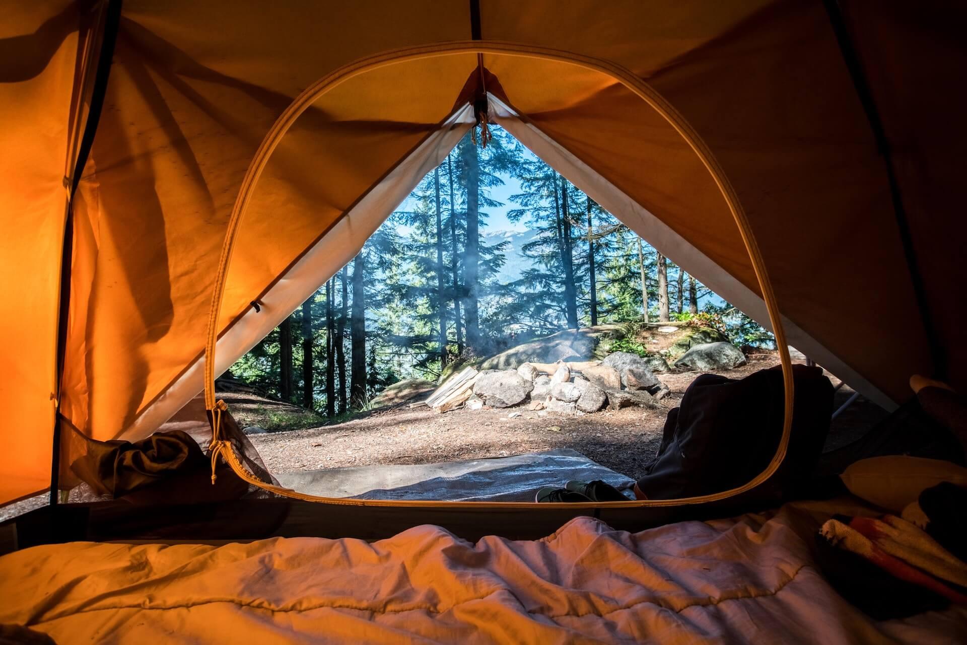 Feuerschale beim Camping