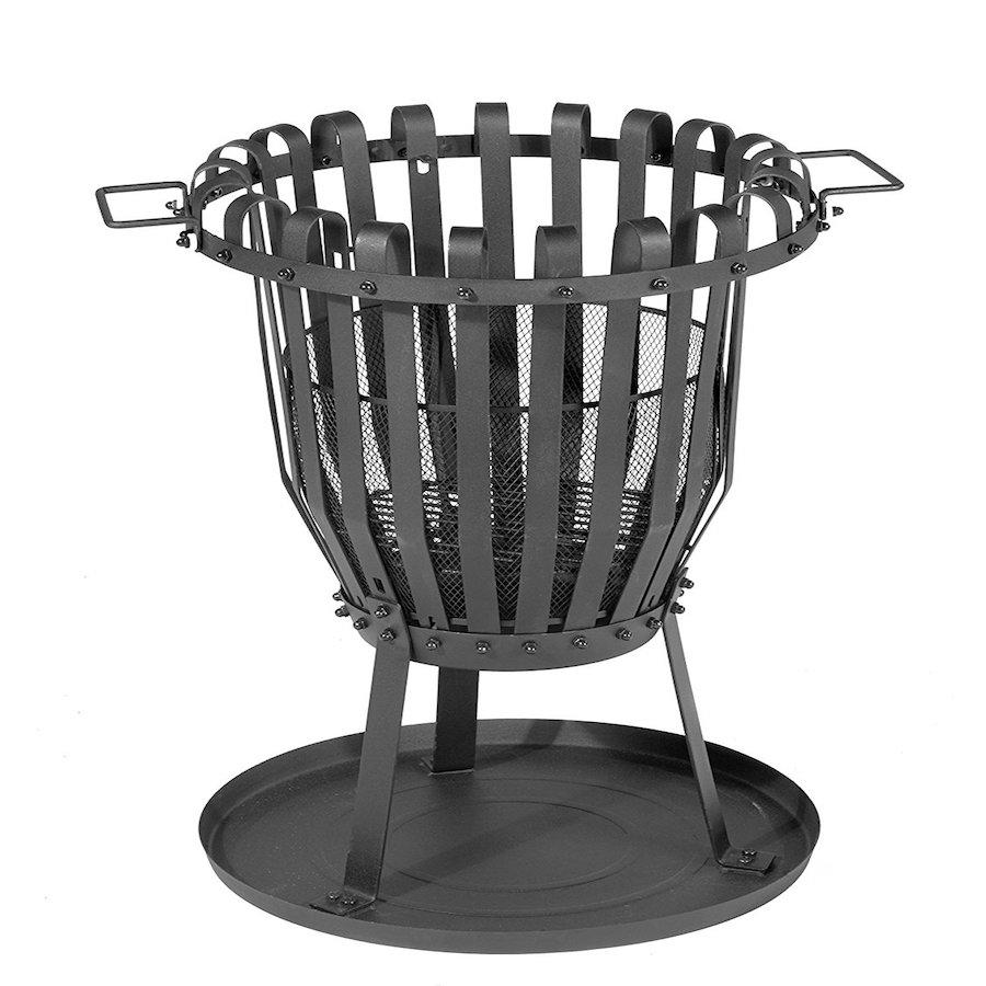 feuerkorb mit funkenschutzgitter und grillrost feuerschale. Black Bedroom Furniture Sets. Home Design Ideas